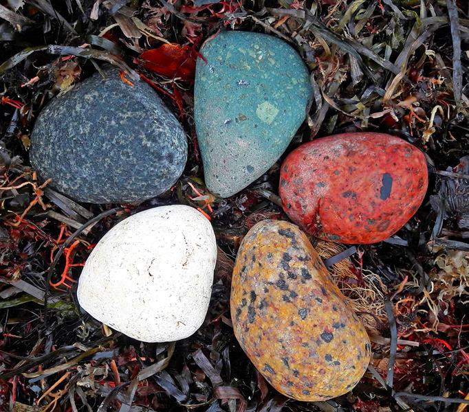Fünf Elemente Steine