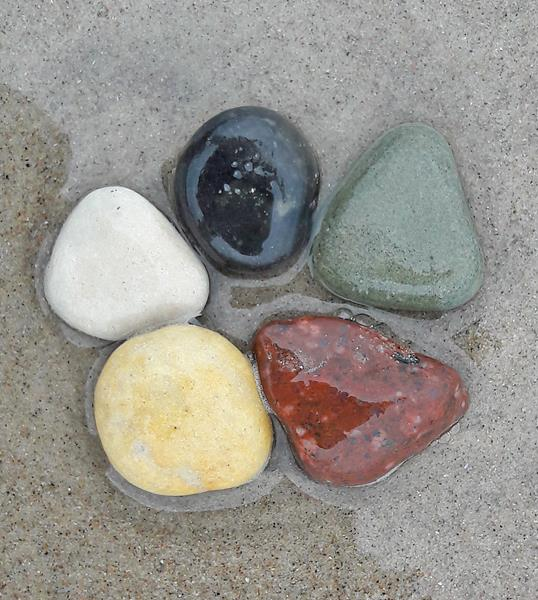 Fünf Elemente Steine 2