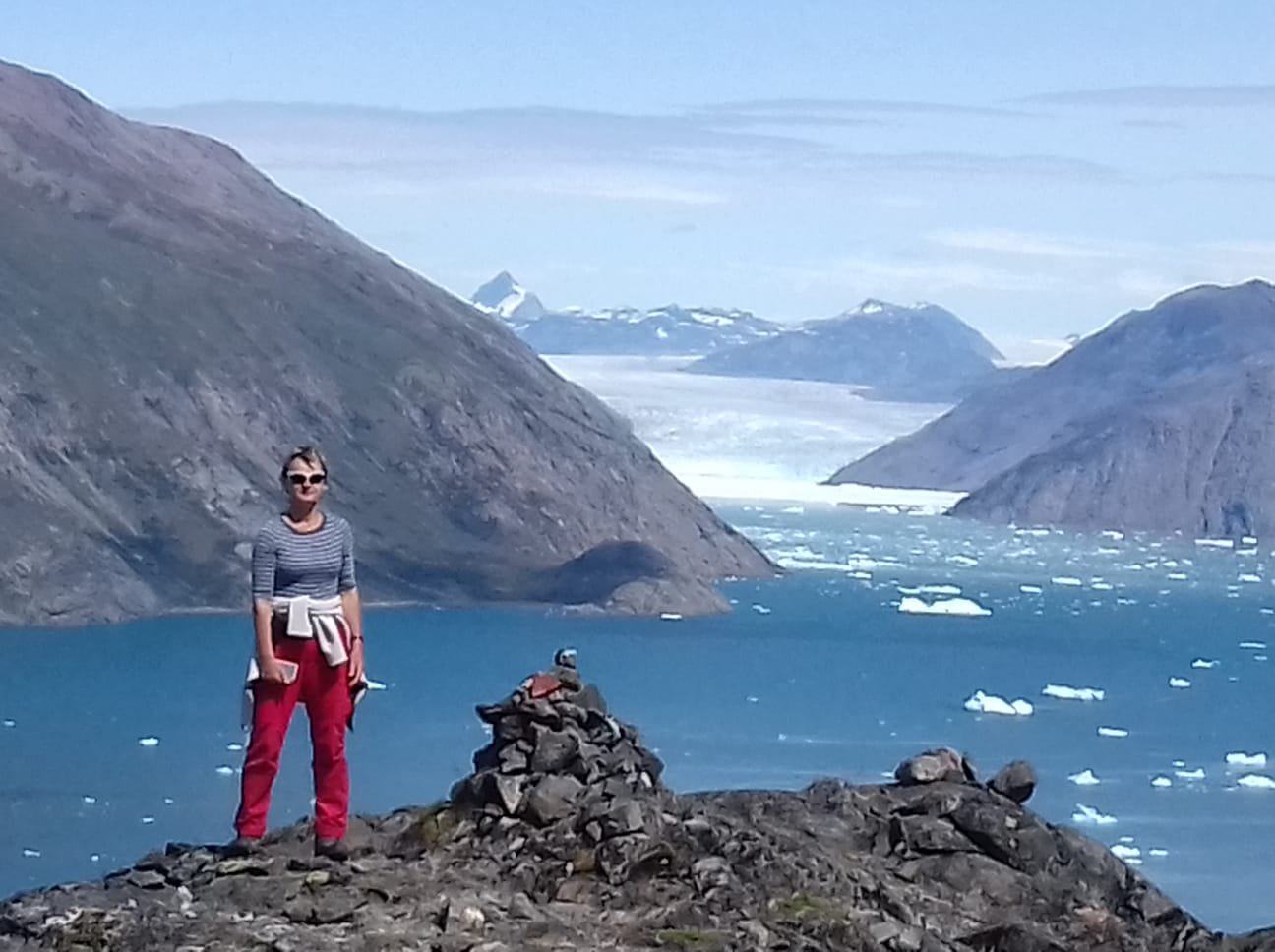 Kathrin in Grönland