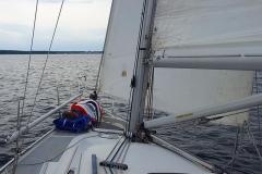 Susanne auf dem Vorschiff