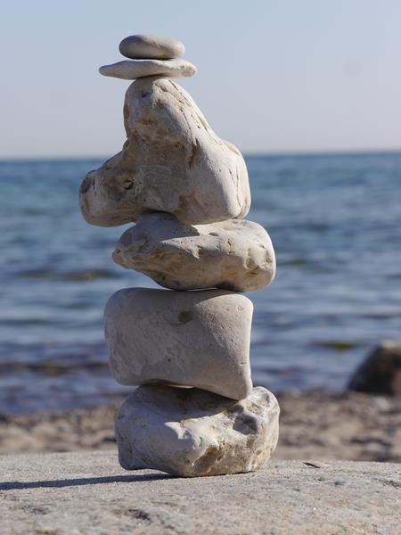 Lebenssteine Ostsee weiß