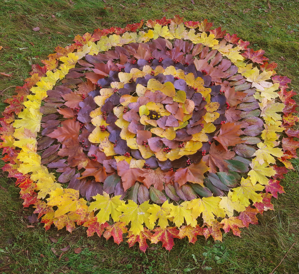 Herbst-Spirale-Mandala