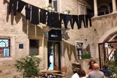 Split schwarze Wäsche
